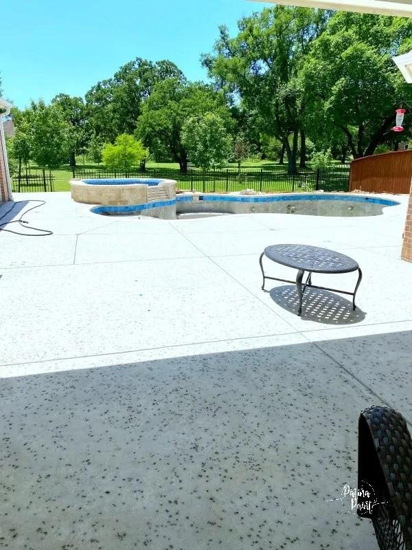 pool, patio,