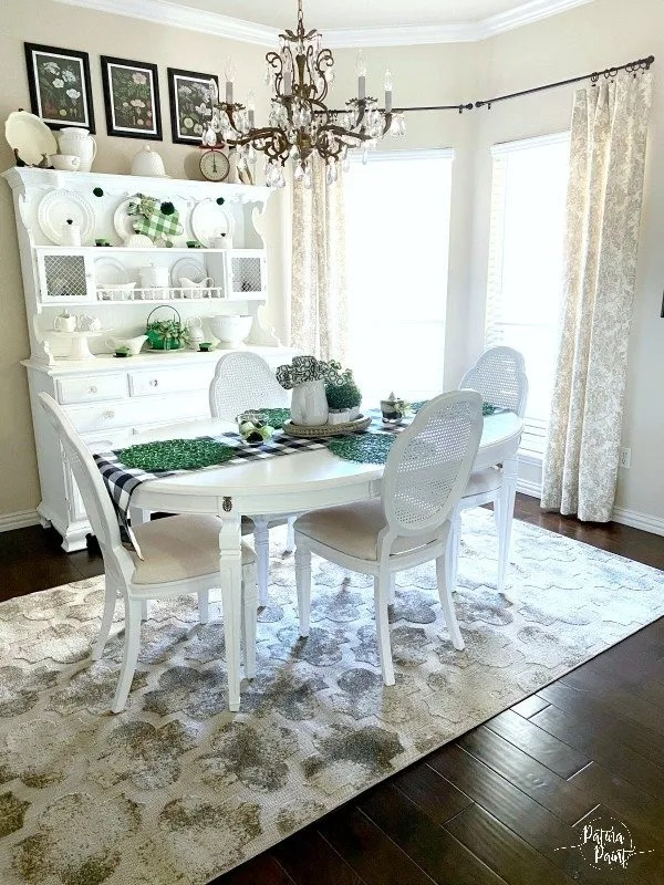 white french table and chairs