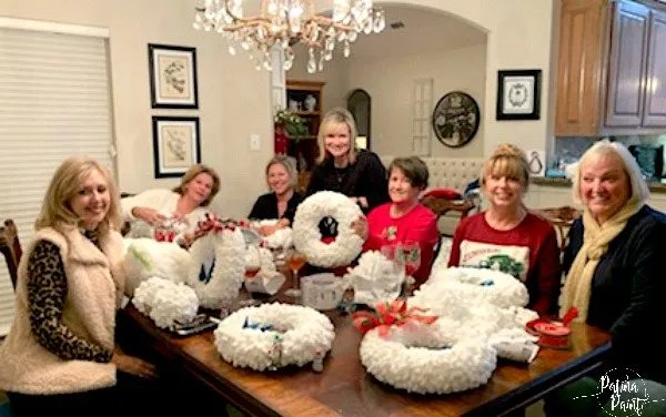 women making wreaths