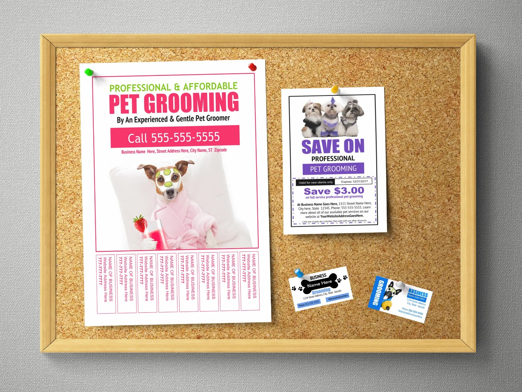 Pet Grooming Business Marketing Templates