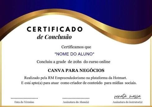 Certificado Canvas para Negócios