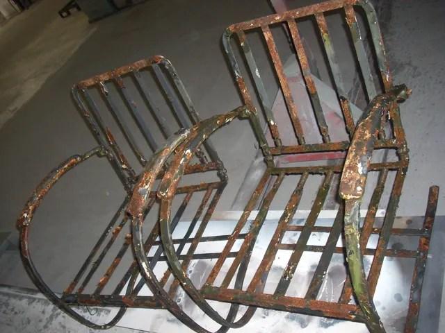 powder coating antique patio furniture