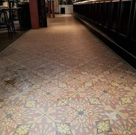 encaustic tiled floor commercial