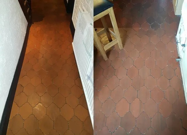 quarry tile floor and grout wax
