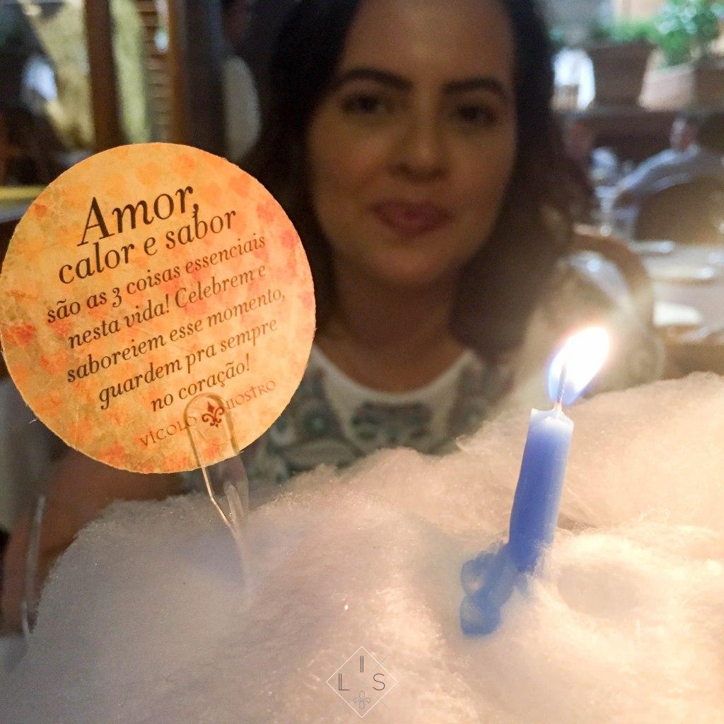 Restaurante Italiano Vicolo Nostro - bolo de algodão doce
