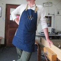Denim Woodwork apron has arrived in the Folksy shop...