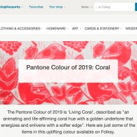 Folksy Gifts for Makers & Pantone Coral...
