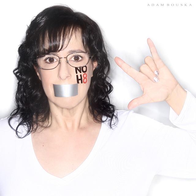 Lisa-Michelle Kucharz NOH8 Campaign Photo Shoot