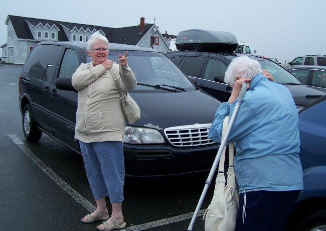 Mom and Grandma's visit - July 2008