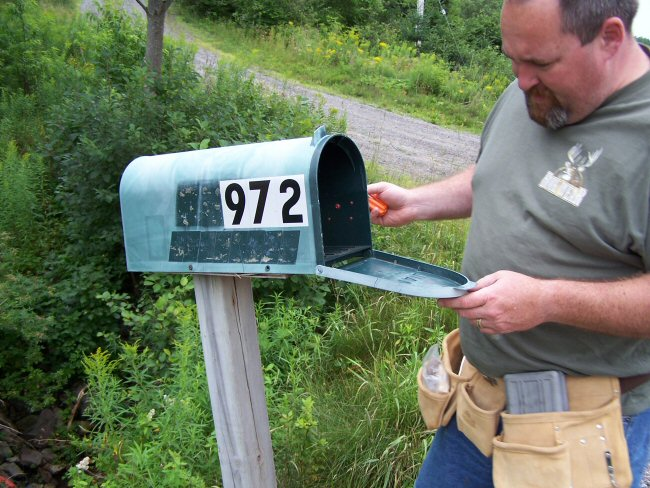 A photo of our new mailbox