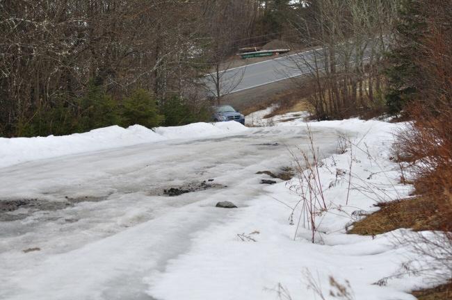 icy driveway still