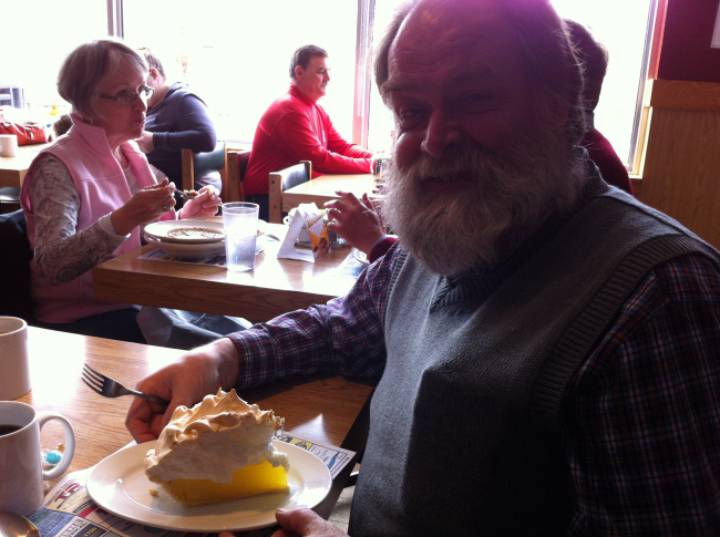 Dad's gigantic lemon pie