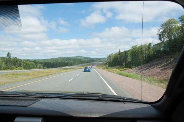 Driving through New Brunswick