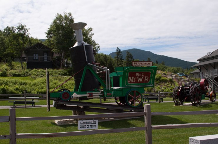The Peppersass is the original wood driven, steam engine that went up the track a hundred years ago.