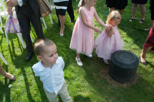 My nephew Easton & niece Hadley behind