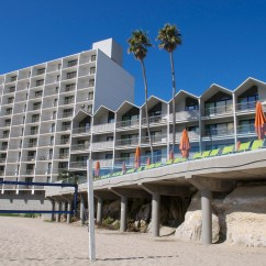 Here is the hotel from the beach. All rooms face the ocean. My room had a big wide patio door, no screen, that I could leave wide open and enjoy the fresh air and ocean sounds
