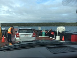 Ferry pulled up right in time for us to drive on!