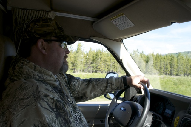 Jeff driving in the Yukon!
