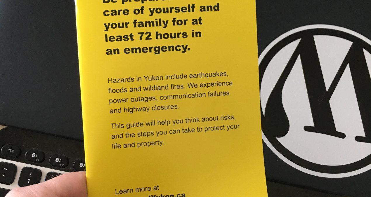 Emergency preparedness brochure – nice timing!