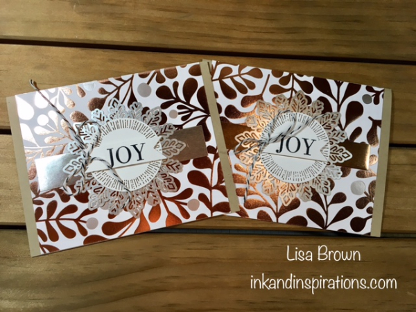 Stampin Up 2017 Christmas Card Ideas Video Tutorial 5
