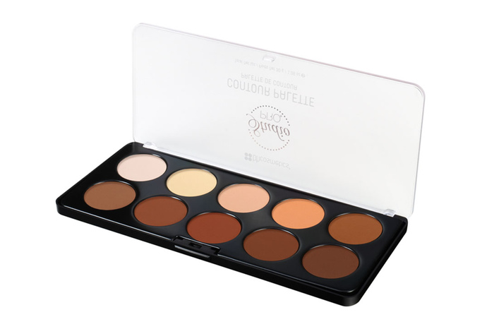 BH Cosmetics Studio Pro Contour Palette Review on dark skin