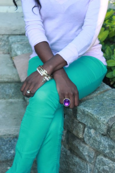 Lavender and Mint Outfit of the Day
