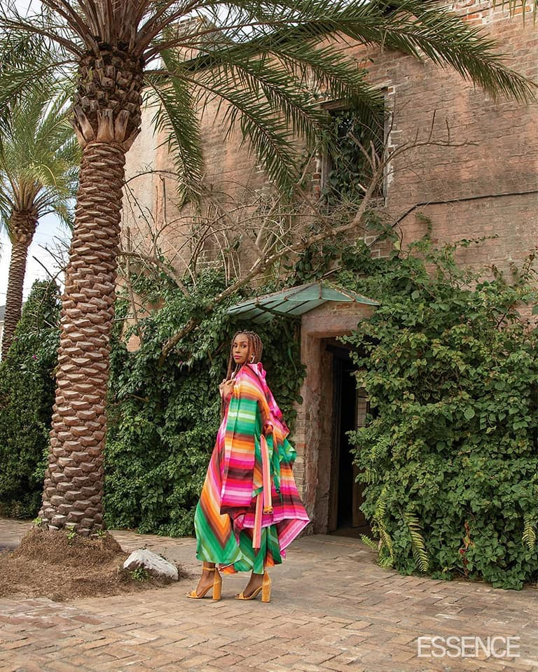 Issa Rae Colorful and Palm Tree