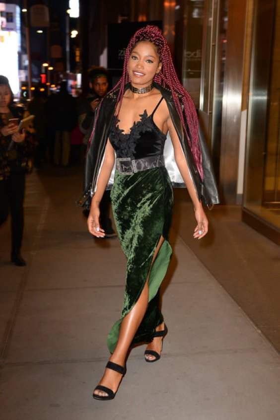 NEW YORK, NY - DECEMBER 16: Actress/Singer Keke Palmer is seen walking in Soho on December 16, 2016 in New York City. (Photo by Raymond Hall/GC Images)