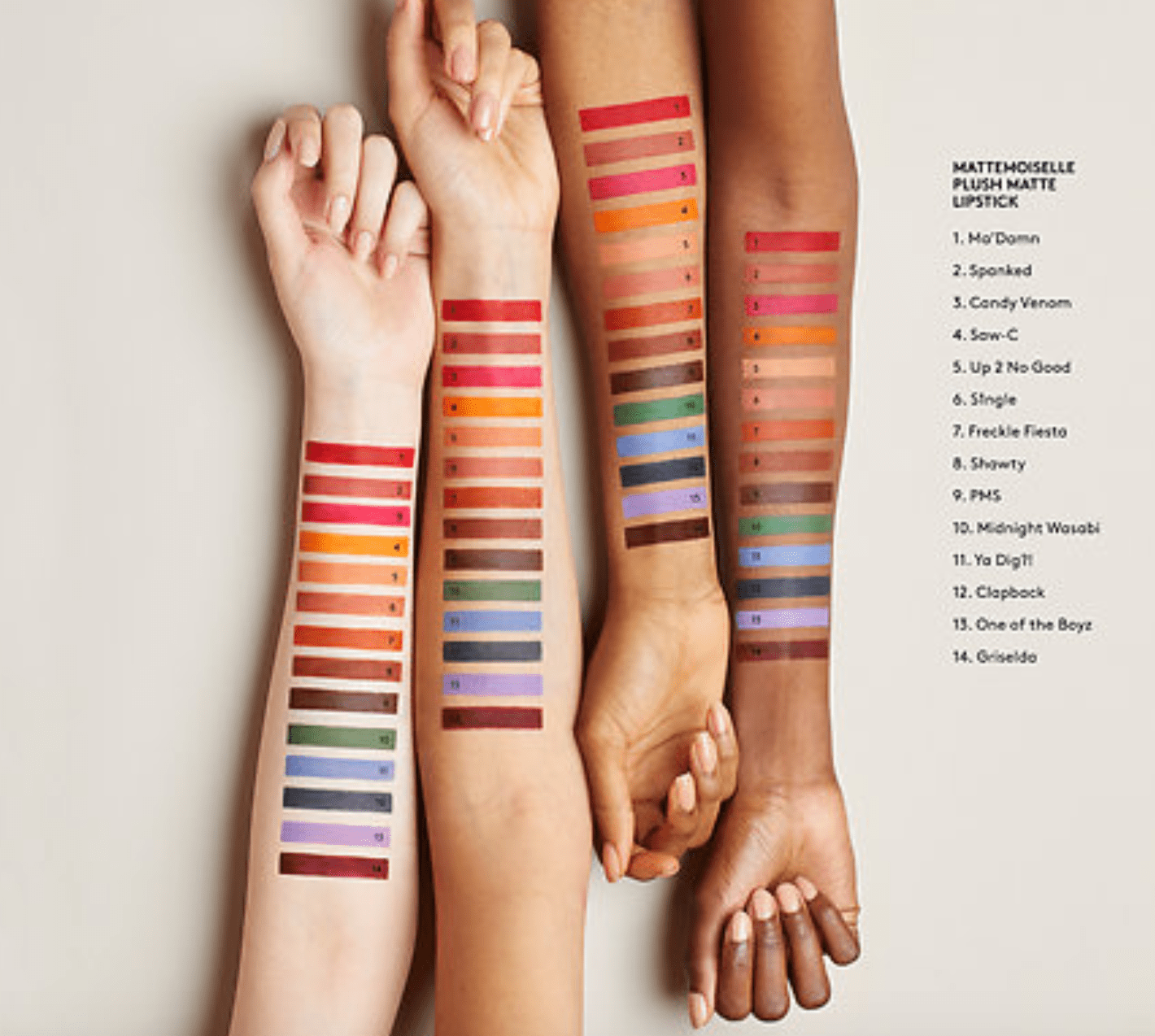 clap-back-fenty-mattemoiselle-review-dark-skin-light-skin-swatches
