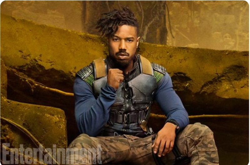 ERIK KILLMONGER-Michael B. Jordan, Black Panther