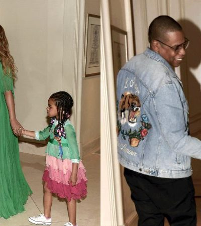 Beyoncé, Blue Ivy, and Jay-Z Look Too Cute For Words at the Premiere of 'Beauty and the Beast'