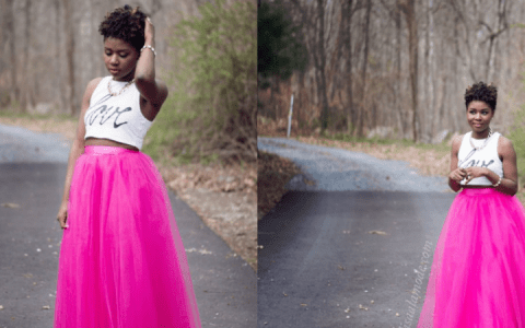 how-to-wear-a-pink-tulle-skirt