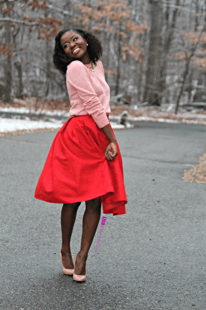 how-to-style-red-skirt