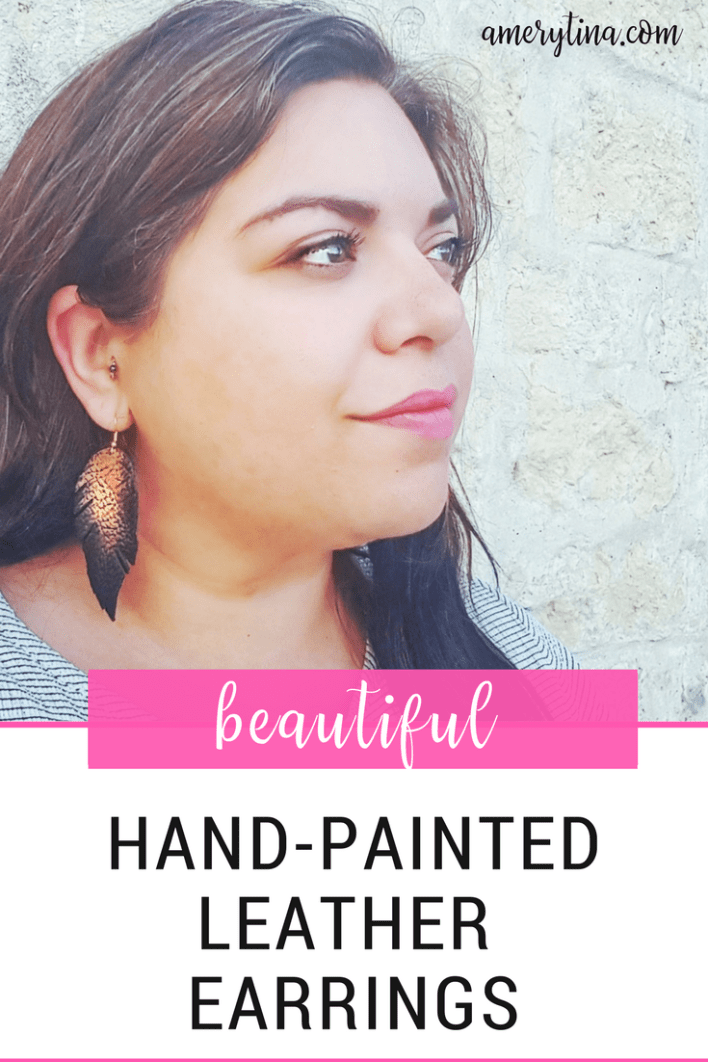 I am so in love with these Hand-painted leather earrings by The Lovely Hollow. Read more to see what makes them so amazing!   amerytina