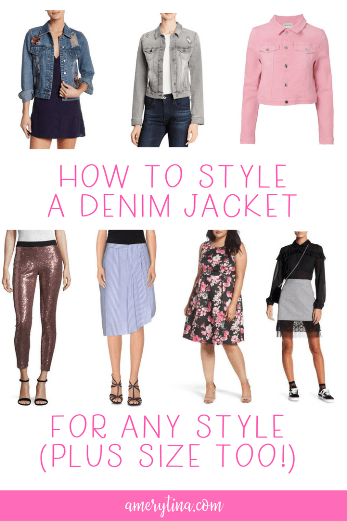 How to style a denim jacket, with plus size options too! | lisaalfaro.com #howto #styletip #plussize