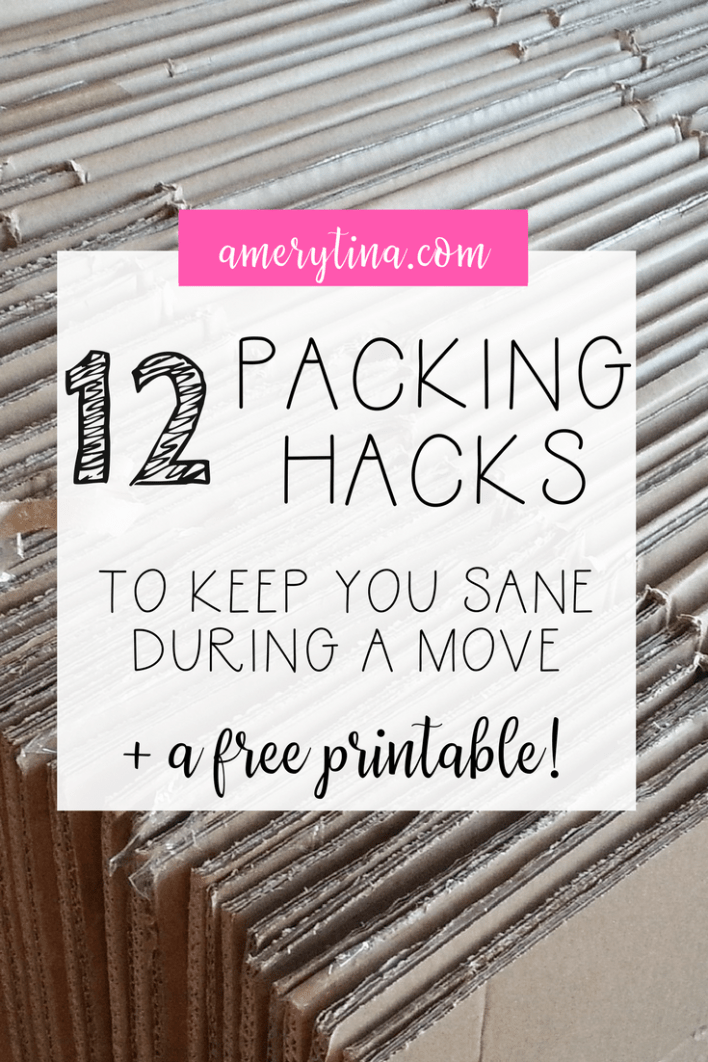 12 packing hacks to keep you sane during a move + a free printable | lisaalfaro.com #printable #freebie #hack #packing