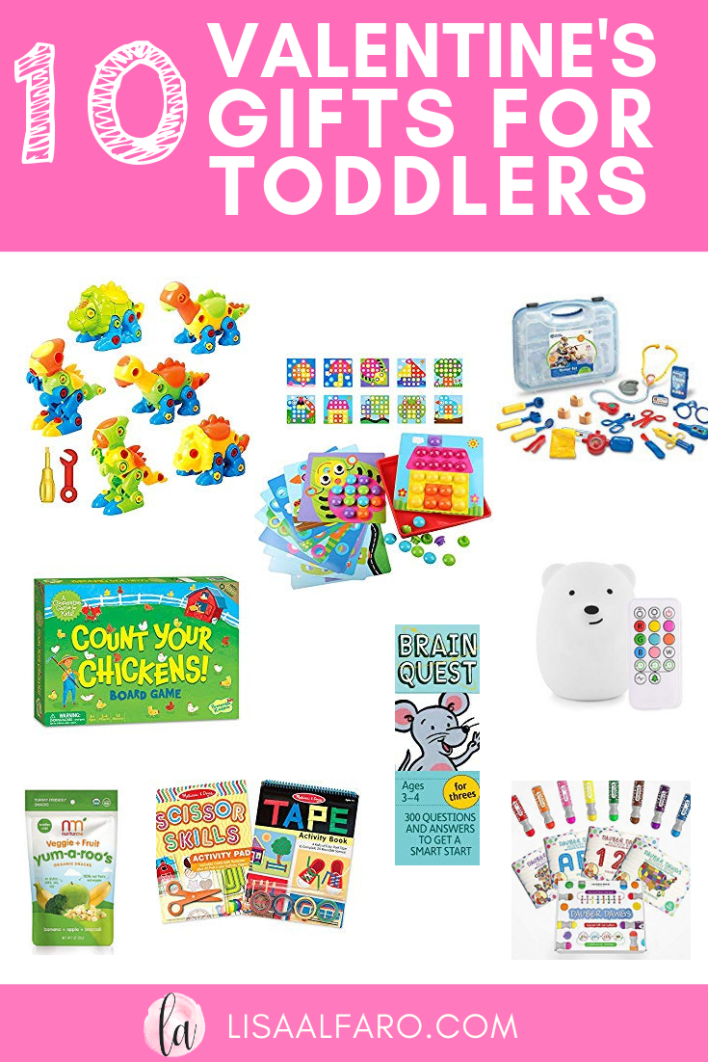 10 Valentine's Day Gifts for Toddlers #Valentine #GIftGuide #Toddler #Preschool #Gifts #Toys #Momlife