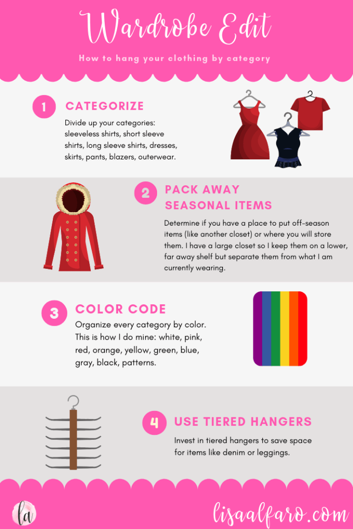 How to categorize your closet in four easy steps #howto #style #closet #edit #wardrobe #hack