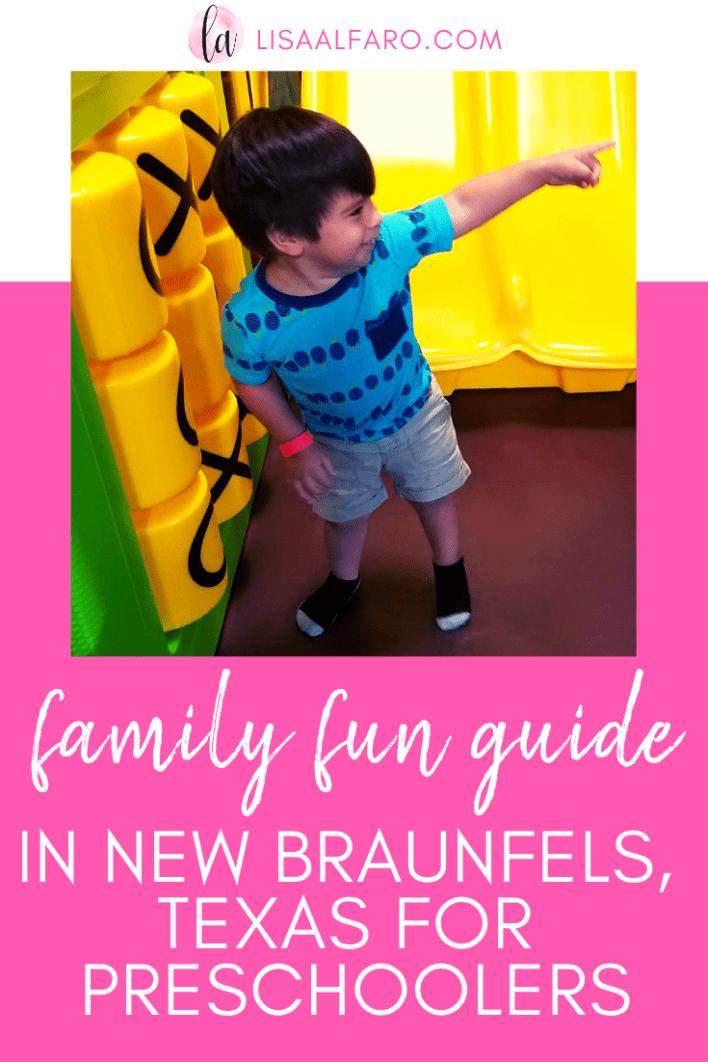 Family fun guide in New Braunfels for preschoolers #newbraunfels #texas #nbtx #centraltexas #sanantonio #daytrip #travel #kids