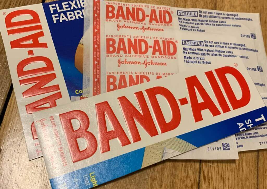 Band-Aid box ephemera art