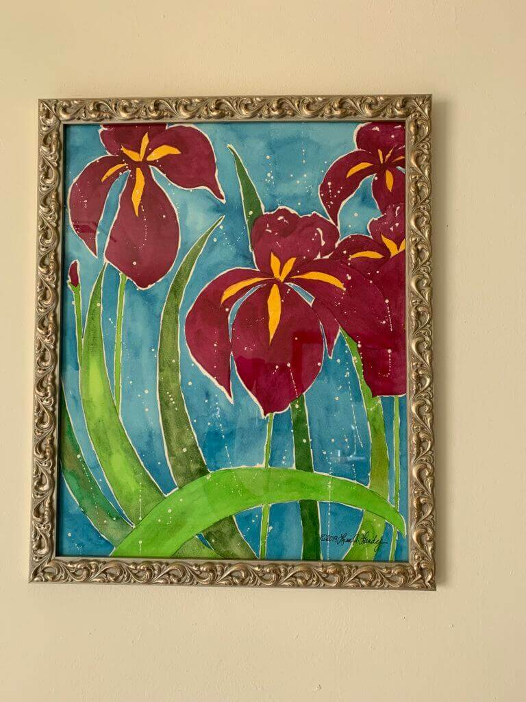 Flower painting representing life