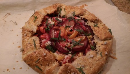 Tomato and Plum Galette