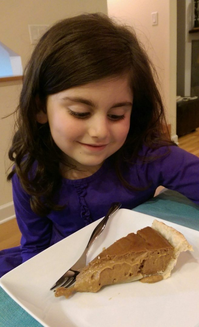 Talia and pumpkin pie