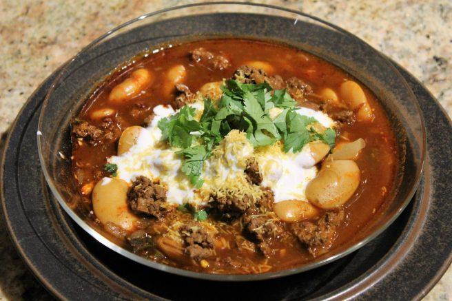 Lamb and white bean chili