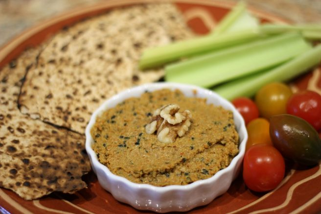Carrot, Orange, Ginger and Walnut dip