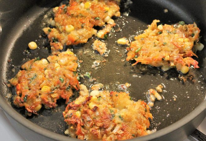 Vegetable Fritters with Mango Chutney4