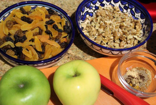 Cornish Hens with Fruit, Walnuts and Honey Glaze3