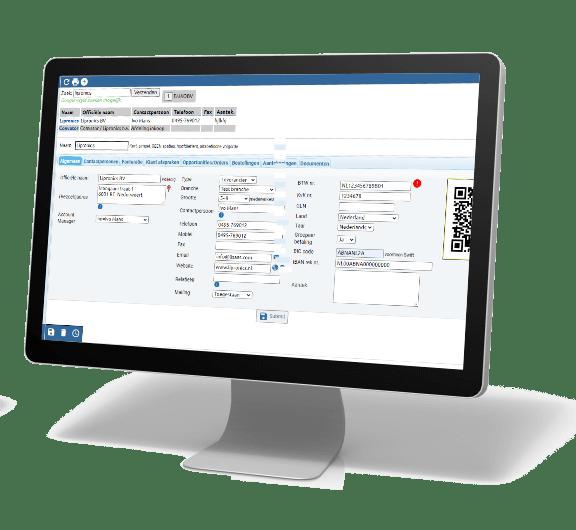 Relatiebeheer is compleet geïntegreerd in Lisaas ERP Software