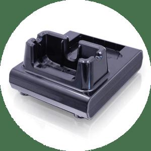 cradle en charger als accessoire voor de barcodescanner