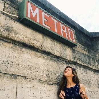 Last time riding the Metro.